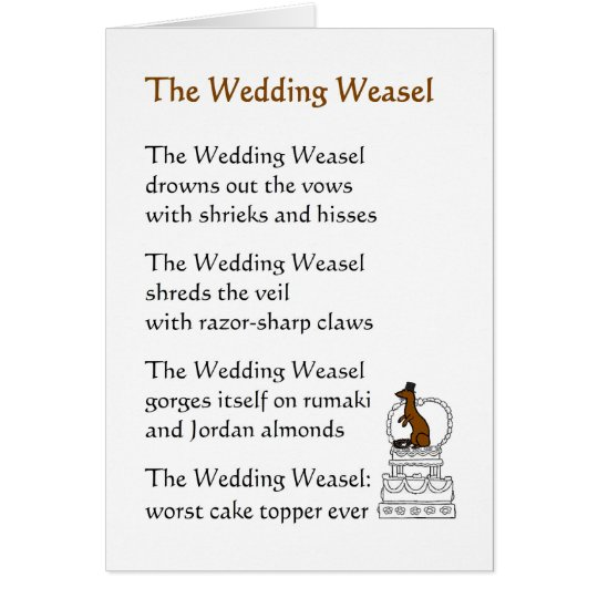 The Wedding Weasel