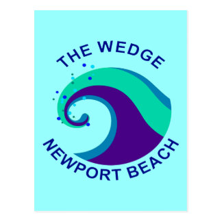 The Wedge, Newport Beach Postcard