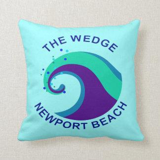 The Wedge, Newport Beach Throw Pillow