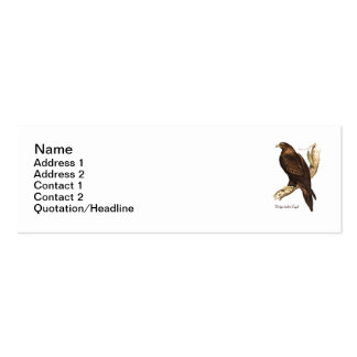 The Wedge Tailed Eagle. A Magnificent Bird of Prey Business Card Template