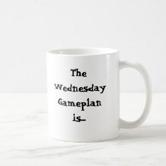 The Wednesday Gameplan is... Procrastinate Classic White Coffee Mug