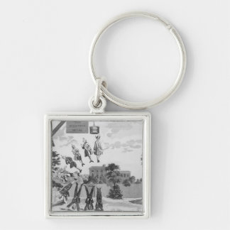 The Weighing House Silver-Colored Square Keychain