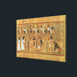 """The Weighing of Heart against the Feather of Canvas Print<br><div class=""""desc"""">Egyptian 19th Dynasty &#39;s The Weighing of the Heart against the Feather of Truth, from the Book of the Dead of the Scribe Any, c.1250 BC located at the British Museum, London, UK. The The Weighing of the Heart against the Feather of Truth, from the Book of the Dead of...</div>"""