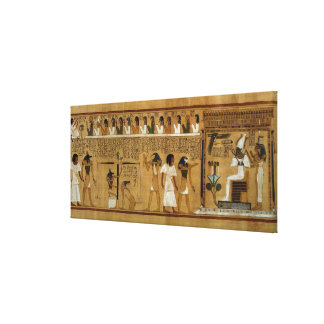 The Weighing of the Heart against Maat's Feather Canvas Print