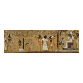 The Weighing of the Heart against Maat's Feather Panel Wall Art