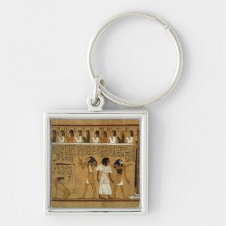 The Weighing of the Heart against Maat's Feather Silver-Colored Square Keychain