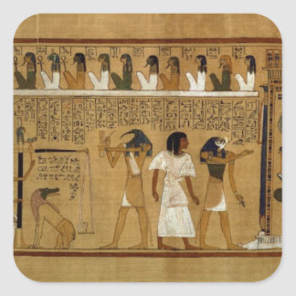 The Weighing of the Heart against Maat's Feather Square Sticker