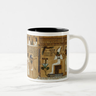 The Weighing of the Heart against Maat's Feather Two-Tone Coffee Mug