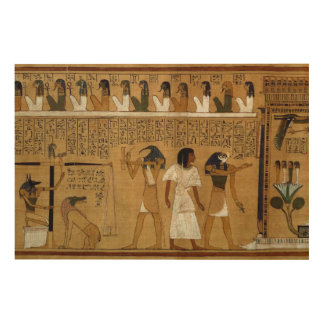 The Weighing of the Heart against Maat's Feather Wood Wall Art