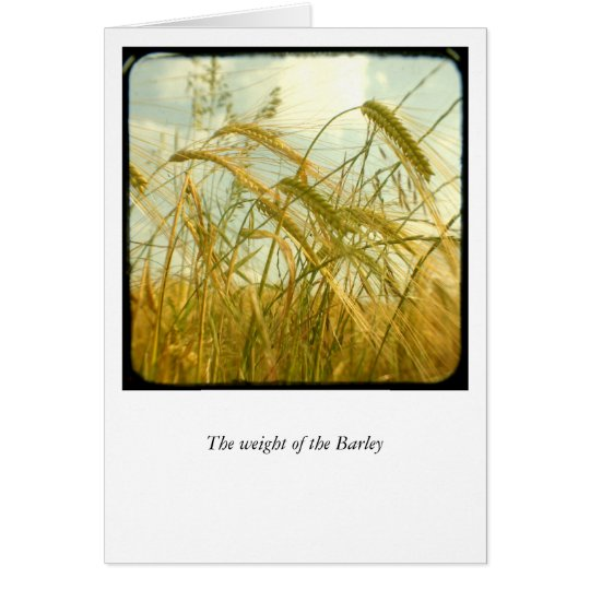 The weight of the Barley Card