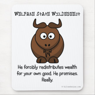The welfare state is concerned with your wellbeing mouse pad