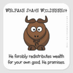 The welfare state is concerned with your wellbeing square stickers