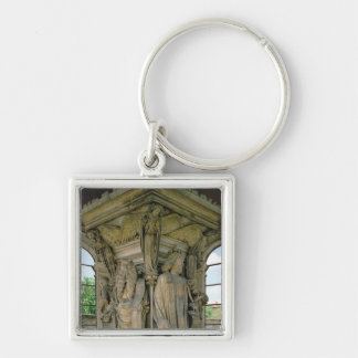 The Well of Moses, David and Moses, 1395-1404 (sto Keychain