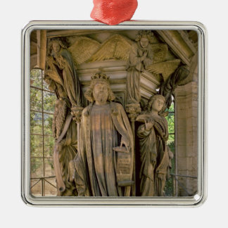 The Well of Moses: David and other prophets, 1395- Square Metal Christmas Ornament