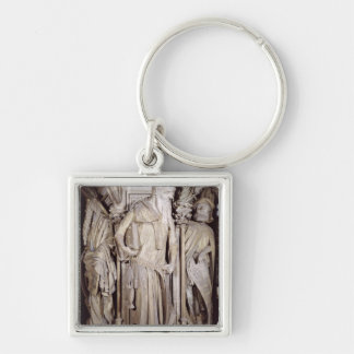 The Well of Moses Silver-Colored Square Keychain