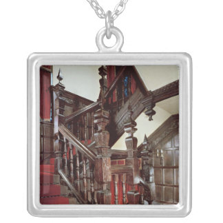 The Well staircase, c.1600 Square Pendant Necklace