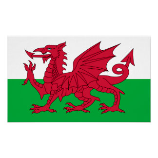 The Welsh Flag Poster