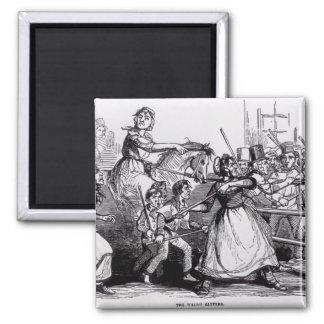 The Welsh Rioters 2 Inch Square Magnet