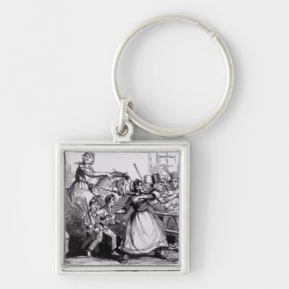 The Welsh Rioters Silver-Colored Square Keychain
