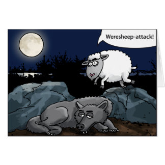 the weresheep attacks the wolf cards
