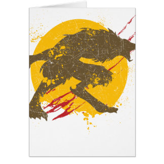 The Werewolf Greeting Card