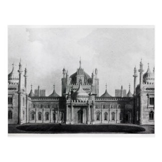 The West Front of the Brighton Pavilion Postcard
