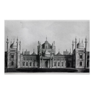 The West Front of the Brighton Pavilion Poster