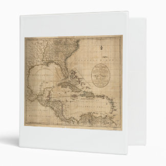 The West Indies Map by John Cary (1783) 3 Ring Binder