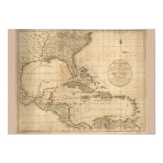The West Indies Map by John Cary (1783) Card