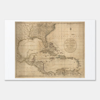 The West Indies Map by John Cary (1783) Sign