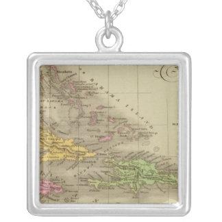 The West Indies Square Pendant Necklace