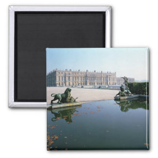 The West or Garden Facade viewed from the Parterre 2 Inch Square Magnet