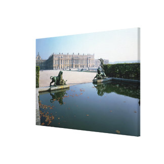 The West or Garden Facade viewed from the Parterre Canvas Print