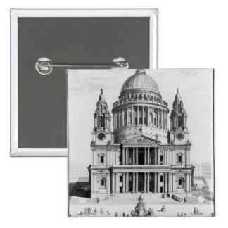 The West Prospect of St. Paul's Cathedral Pinback Button