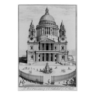 The West Prospect of St. Paul's Cathedral Print