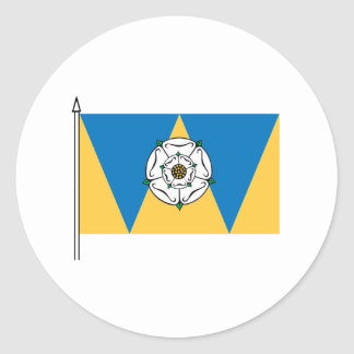 The West Yorkshirian Flag Classic Round Sticker