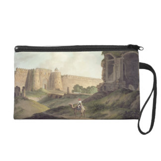 The Western Entrance of Shere Shah s Fort Delhi Wristlet Clutch