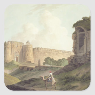 The Western Entrance of Shere Shah's Fort, Delhi, Square Stickers
