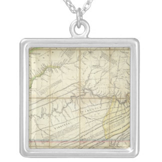 The Western Parts of Virginia, Pennsylvania Silver Plated Necklace