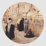 The Western Wall Classic Round Sticker