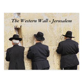 The Western Wall - Jerusalem Postcard