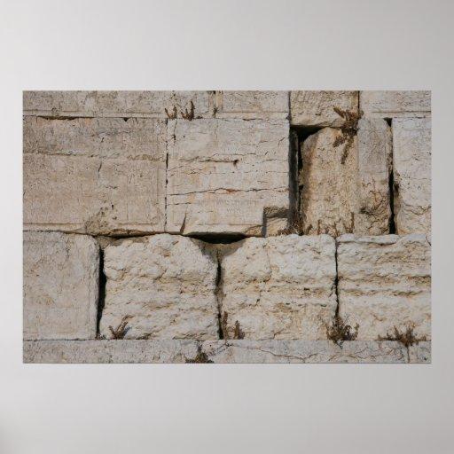 The Western Wall, Jerusalem Print