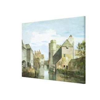 The Westgate, Canterbury (bodycolour on paper) Canvas Print