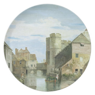 The Westgate, Canterbury (bodycolour on paper) Dinner Plate