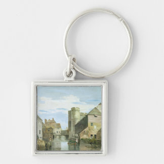 The Westgate, Canterbury (bodycolour on paper) Keychain
