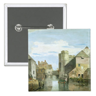 The Westgate, Canterbury (bodycolour on paper) Pinback Button