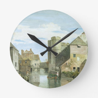 The Westgate, Canterbury (bodycolour on paper) Round Clock