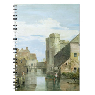 The Westgate, Canterbury (bodycolour on paper) Spiral Notebook