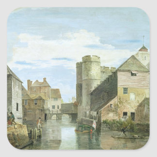 The Westgate, Canterbury (bodycolour on paper) Square Sticker