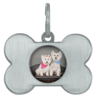The Westie couple Pet ID Tag